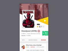 Dribbble - Movie App by Bagus Fikri