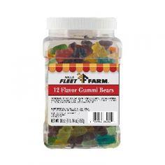Mills Fleet Farm 12 Flavored Gummi Bears Jar - 30 Oz. - Mills Fleet Farm