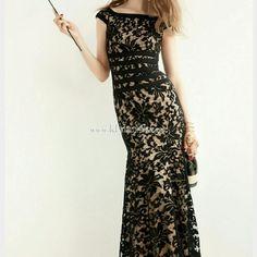 Tadashi formal black lace dress Beautiful worn once to a wedding black lace dress by Tadashi from Nordstrom. Had it shortened slightly for my height w 3 inch heels...5'6 Tadashi Shoji Dresses Maxi