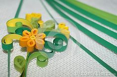 Quilling flower on a white background