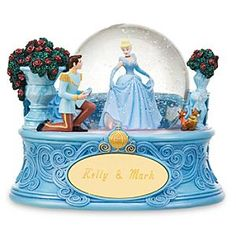Disney Personalized Cinderella Snowglobe | Disney StorePersonalized Cinderella Snowglobe - Make Disney Princess dreams come true with our Personalized Cinderella Snowglobe. Cinderella and her Prince Charming are a perfect fit. Jaq and Gus look on in admiration as their ''Cinderelly'' prepares to try on the fateful glass slipper.
