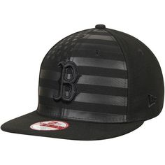 e4ca5fc1140 Boston Red Sox New Era 9FIFTY Flag Front Adjustable Hat - Black