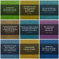 A selection of the best book quotes in images you can easily share on social media networks.