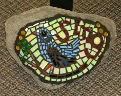 """Sing"" Upcycled ugly rock mosaic"