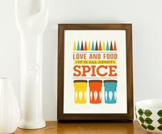 Art for Kitchen Cathrineholm kitchen poster  Typography by handz, $19.00