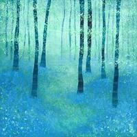 Bluebells, Challock painting by Nic Squirrell