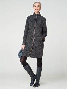 Прямое пальто 2018 (71 фото): без воротника, с чем носить, из твида, длинное, короткое