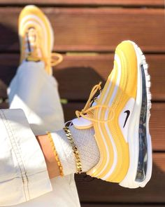 Nıke Air Max 97 Spring Yellow Comment your thoughts : . Cute Sneakers, Sneakers Mode, Sneakers Fashion, Nike Fashion, Nike Women Sneakers, Sneakers Adidas, Black Sneakers, Streetwear Fashion, Fashion Clothes