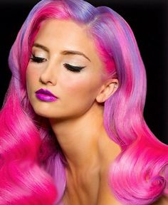 Awesome tutorials on how to create these vibrant looks with #Pravana #Chromasilk #Neons collection.  #pinkhair