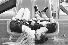 i love playground pictures of couples! kids at heart :)
