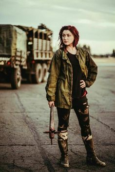 zombie hunter / survivor / wasteland fashion for women's / post apocalyptic / cosplay / LARP