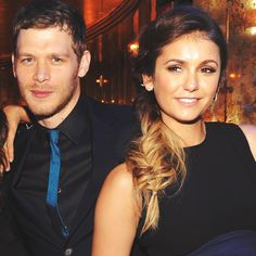 Joseph Morgan and Nina Dobrev at The CW Network's 2014 Upfront party {by Paria}