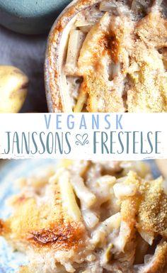 VEGANSSON ~ En vegansk variant av en klassisk Janssons frestelse. Passar perfekt till julbordet.