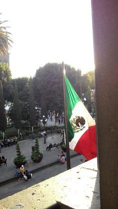 En la Plaza de San Miguel, zócalo de Puebla. México