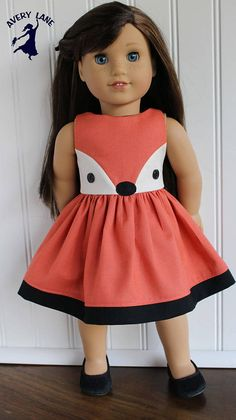 Clothing Sewing Pattern for 18 inch dolls, such as Gotz, American Girl Dolls, Florrie Dolls, & Our Generation. Make this boutique dress or tunic for dolls with this PDF Pattern, plus link to free tutorial for animal ears to match. This is a PDF pattern ebook that will be available for