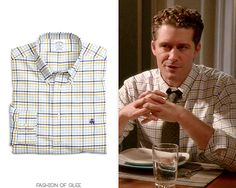 Will Schuester wears a @BrooksBrothers shirt in 'Homecoming' on #Glee:  Brooks Brothers Non-Iron Slim Fit Two-Toned Check Sport Shirt