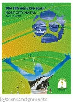 NATAL CITY BRAZIL 2014 WORLD CUP SOCCER GRAPHIC ART POSTER WALL DECOR