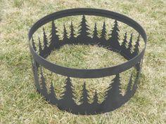 Fire pit ring by JJscustomworkbench on Etsy, $175.00 A-Ma-Zing!