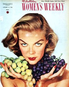 Cover girl with grapes, 1954.
