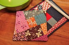 Texas Freckles: Quick and Easy QAYG Scrappy Potholder :: A Tutorial