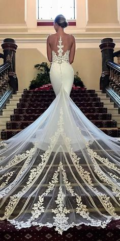 24 Trumpet Wedding Dresses That Are Fancy & Romantic ? trumpet wedding dresses illusion back lace with train enzoani ? : 24 Trumpet Wedding Dresses That Are Fancy & Romantic ? trumpet wedding dresses illusion back lace with train enzoani ? Dresses Elegant, Stunning Wedding Dresses, 2015 Wedding Dresses, Designer Wedding Dresses, Bridal Dresses, Wedding Gowns, Lace Wedding, Event Dresses, Modern Wedding Dresses
