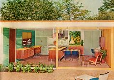 Mid century beach bungalow. Someone needs to build a hotel or resort with rooms like this