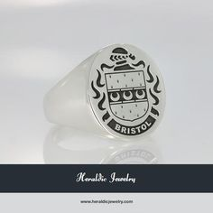 Bristol family crest jewelry