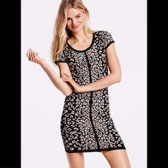 VS Cashmere Cap-sleeve Jacquard Sweaterdress XS A kiss of Cashmere Cap-sleeve Jacquard Sweaterdress by Victoria's Secret. Leopard print. Size XS. Great condition. Victoria's Secret Dresses