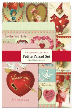 "The red and pink colors give it a nice romantic style. If you have some small Valentine's gifts to get ready for example some gift cards or special photographs you'll love these envelopes stickers and gift tags. Each set features 12 envelopes (four each in three assorted styles and sizes - small is 3.5"" by 5"" medium is 5"" by 7"" large is 6"" by 9"") 12 sheets of assorted stickers and 12 gift tags (four each in three assorted styles and sizes).   Valentine Parcel Set by Cavallini & Co. Home…"