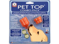 Combo Pack Travel Water Bottle Topper & Adaptor Portable Dog Drinking Device