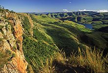 Las montañas Drakensberg, el punto más alto en Sudáfrica.