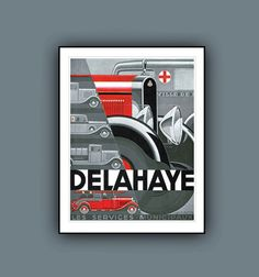 Art Deco Car Poster(Art Deco or deco, is an eclectic ...