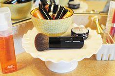 cute way to display makeup