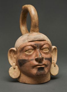 Moche Pottery Jar  Medium: Ceramic with slip paint  Dates: c. 5th – 9th Century  Culture: South American  Staten Island Museum