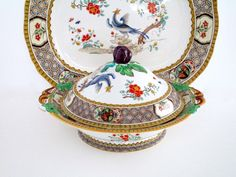Minton England Cockatrice Tureen with Lid