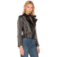 NOUR HAMMOUR Stones Jacket ($1,780) ❤ liked on Polyvore featuring outerwear, jackets, coats & jackets, studded jacket, zip jacket and zipper jacket