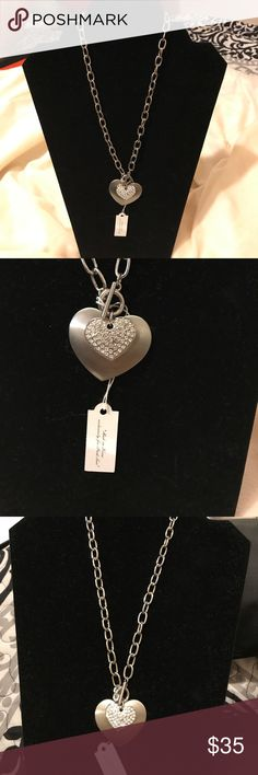 """Park Lane heart ❤️ necklace NWT 18"""" long Park Lane heart ❤️ necklace NWT 18"""" long  Missing 1 cubic zirconia  Please see pic, you can't notice much that it's missing since it's very small Park Lane Jewelry Necklaces"""
