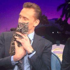 Tom Hiddleston holding a clouded leopard. *deaded