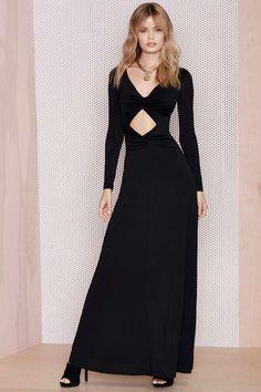 After Party Vintage Knot Me Cutout Dress - Midi + Maxi | Going Out | Solid | Dresses | After Party |  | Dresses