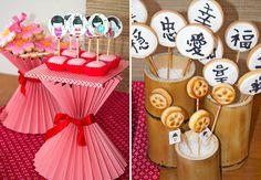 Para comemorar o aniversário da sua filha, inspire-se nesta festa decorada com itens da cultura oriental, repleta de charme e detalhes.  Origamis, sushis, ha