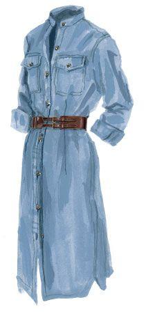 East Meets West Denim Dress > Dresses   The J. Peterman Company