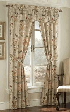 Gemini is a lovely jacquard fabric 5 peice set. Fabric has unique elegant pattern.  #Rod #Pocket #Curtains