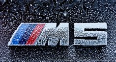 BMW M5 badge frosted over
