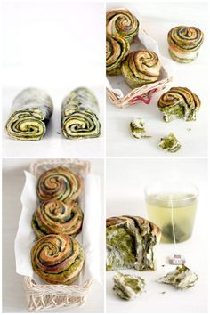 Foodagraphy. By Chelle.: substitute the Matcha powder with chocolate for chocolate brioches