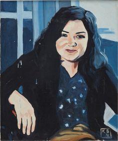 Martin Kippenberger (German, 1953-1997), Ulrike (Ulrike Schmela), 1984. Oil on canvas, 90 x 75.2 cm.