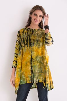 Swallowtail Tunic by Michael Kane (Shibori Tunic) | Artful Home