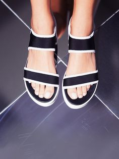 Light Show Sandal | Soft and comfortable vegan sandals with an ultra cool, modern look. Features elastic at the heel for an easy fit.