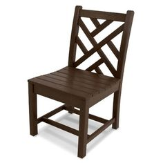 POLYWOOD® Chippendale Dining Side Chair (Set of 2) Finish: Mahogany