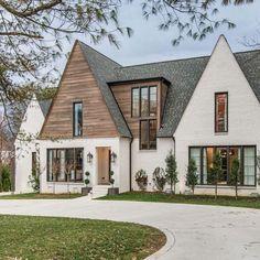 52 Trendy Ideas For Farmhouse Exterior Design Architecture Exterior Paint Colors For House, Dream House Exterior, Paint Colors For Home, Exterior Colors, Stucco Colors, Home Exterior Design, House Ideas Exterior, Paint Colours, Modern House Exteriors