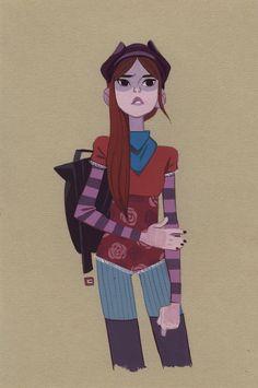 Cattish Store - Didi ORIGINAL Character Poses, Female Character Design, Character Design References, Character Concept, Character Art, Concept Art, Cute Illustration, Character Illustration, Girl Sketch